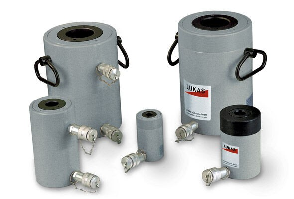 Double-acting steel hollow piston cylinders